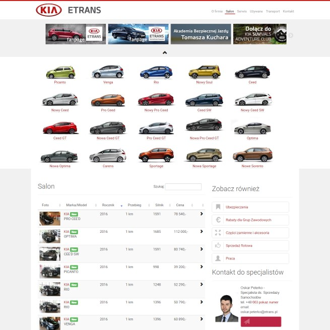 ETRANS - dealer KIA MOTORS